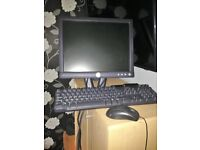 dell monitor and key board