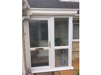 Upvc porch, excellent condition - 6 months old, white, quality double glazing