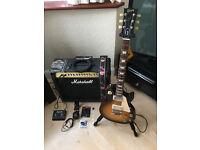 Original USA Gibson Les Paul Studio And Marshall Amp