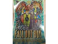 New - Signed FALL OUT BOY Poster from the 2015 UK Tour - Limited Edition