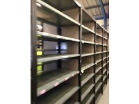 20 bays of QBS industrial shelving 2.3m high ( storage , pallet racking )
