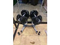 Adjustable dumbbells pair weights 40kg