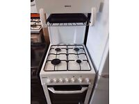 Beko Eye Level Gas Cooker, gas grill and oven , White