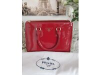 Prada bag in large size with gold hardware