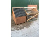 Small chicken / other poultry house and run.