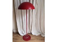 STUNNING HEAVY IKEA LAMP IN RED 365+ FLOOR LAMP . CAN DELIVER.