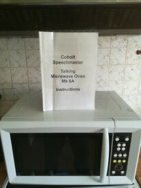 Cobolt speechmaster Talking microwave oven