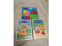 Peppa pig book/dvds small bundle