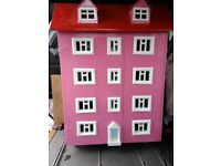LARGE HAND MADE DOLLS HOUSE