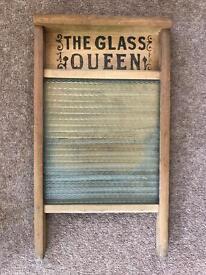 Vintage Glass Queen Washboard