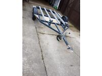 Double jet ski trailer for stand up jet ski Yamaha superjet, Kawasaki sxr,x2