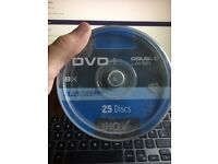 25 blank double layer DVD's NEW