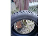 Winter tyres part worn x 4, used twice on Peugeot 107, size 155 R14