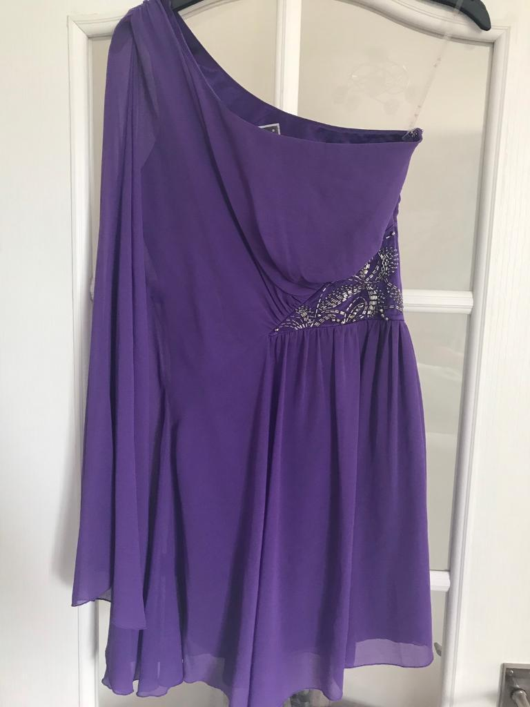 Lipsy Dressin Blackwood, CaerphillyGumtree - Purple Lipsy DressBat wing arm on the right and off the shoulder on the left. Sequins on the left hand side.Size 8!Looking for £20 Ono paid £85 for the dress and has only been worn once for a wedding