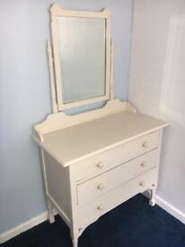 Vintage dressing / vanity table chest of draws