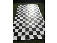 Linoleum Lino chequered flooring