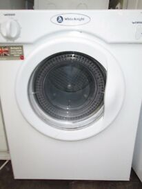 White Knight Compact Dryer 3kg can deliver