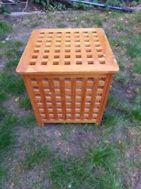 Laundry Basket, cube, wooden
