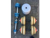 York dumbells and weights