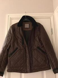 Brown leather Quilted jacket