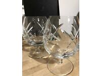 Brandy glasses John Rocha of Waterford Crystal New