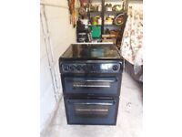 Hotpoint freestanding gas double ovenBlack
