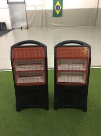 Two halogen heaters
