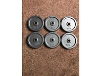 6 x 5kg cast iron weight plates