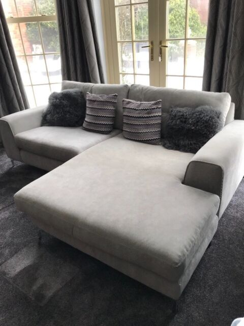 L Shape 2 Seater Sofa In Grey Fabric Spilsby Lincolnshire Gumtree