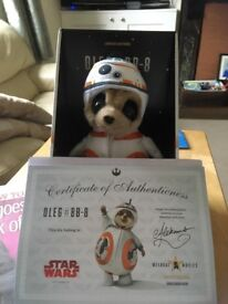 BB8 meerkat toy boxed and with certificate