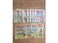 18 Vintage paperback comic books (1991/1992) including Beano and The Beezee and Topper.