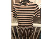 New look striped skater dress size 6