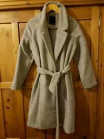 Ladies wool long grey coat