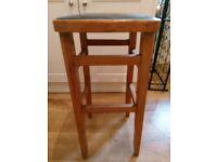 "pine 71"" high kitchen high bar stool"