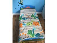 Dinosaur toddler bed with mattress