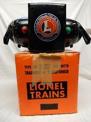 POSTWAR LIONEL TYPE ZW, 275 WATT TRAINMASTER TRANSFORMER & OB, C-7 EX WORKS FINE