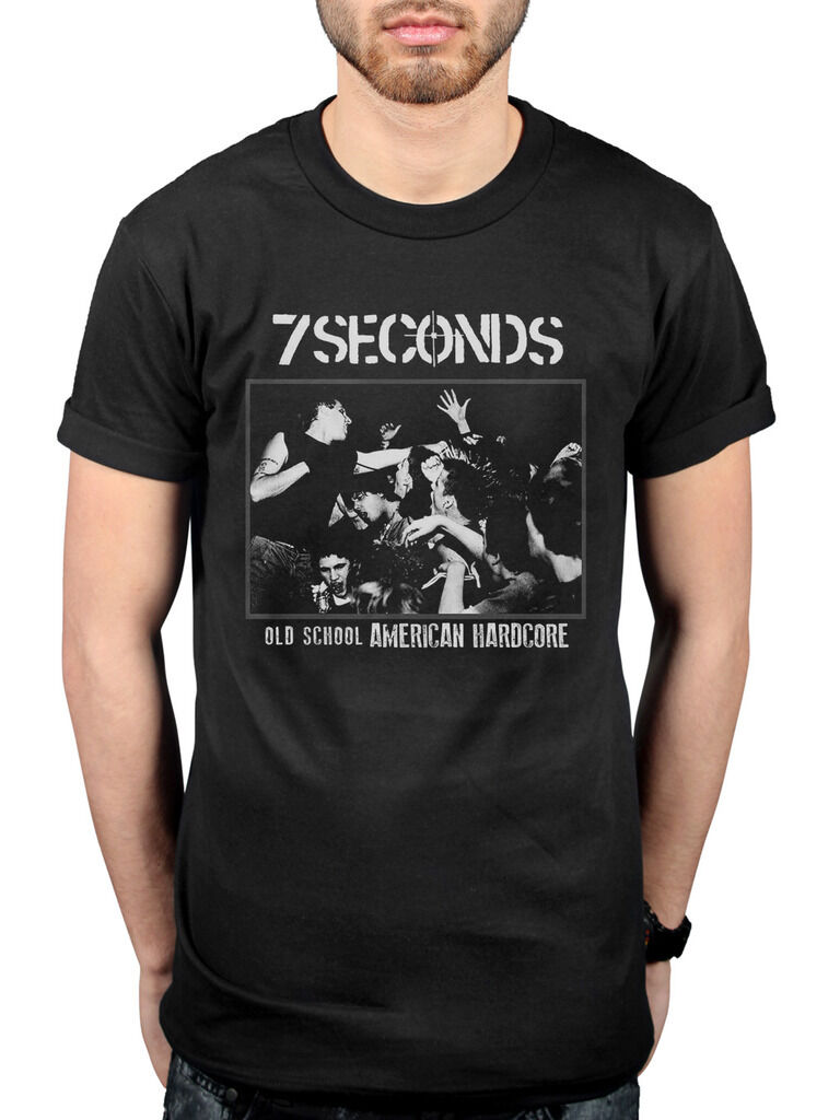 Official 7 Seconds Old School America T-shirt Unisex Punk Band The Crew Rock Me