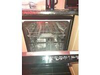 Black Bosch dishwasher excellent condition