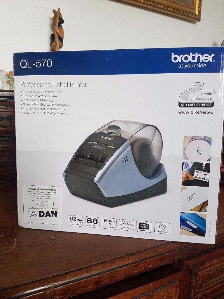 Brand new in box. Brother QL-570 label maker