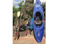 Wavesport X Kayak, Robson Gemini carbon paddle, Schlegel Topline Aluminium paddle plus accessories