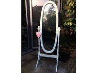 Duck egg blue standing mirror