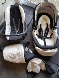 Pram, pushchair, car seat travel system for babies and children