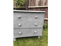 Up Cycled Antique Victorian Pine Chest of Drawers (Can Deliver)