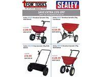 Sealey Walk & Tow Behind Grit/Sand/Fertiliser Spreaders Available