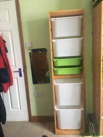 Pine Ikea storage cabinets