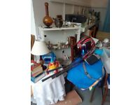 loads of bric a brac, ornaments, lamps, trinkets, boxes etc some vintage