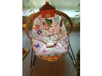 Clean musical baby bouncer