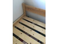 Quality, single, timber bed frame
