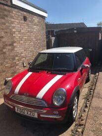 Red Mini Cooper 2001