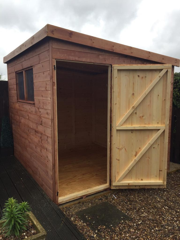 Wooden garages in nottinghamshire - Shed 8x7 Pent Roof